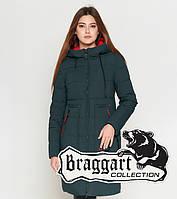 Зимняя женская куртка 25055 темно-зеленая Braggart Youth, фото 1