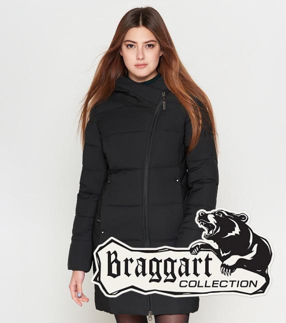 Куртка женская на зиму 25395 черная Braggart Youth