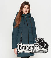 Женская зимняя куртка 25125 бирюза Braggart Youth, фото 1