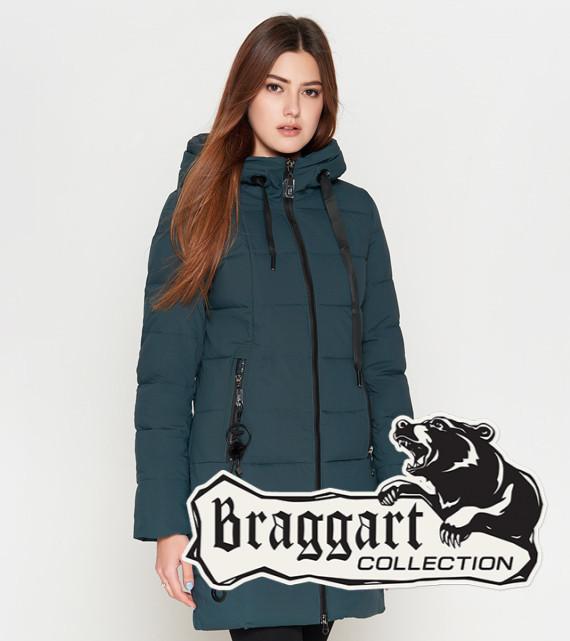 Женская зимняя куртка 25125 бирюза Braggart Youth