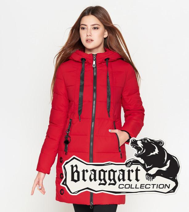 Теплая куртка женская 25125 красная Braggart Youth