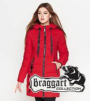 Теплая куртка женская 25125 красная Braggart Youth, фото 1