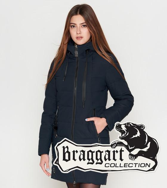 Куртка женская на зиму 25435 темно-синяя Braggart Youth