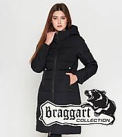 Теплая куртка женская на зиму 25465 черная Braggart Youth, фото 1
