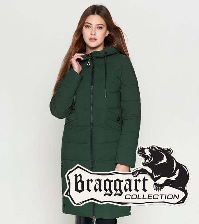 Утепленная зимняя куртка 25595 хаки Braggart Youth