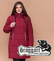 Утепленная куртка женская большого размера бордовая Braggart Youth, фото 1