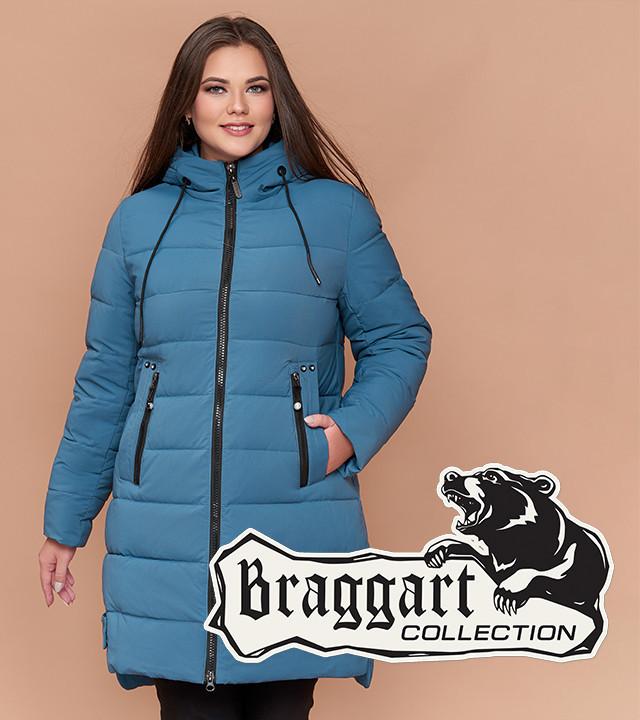 Зимняя куртка для женщин большого размера темно-голубая Braggart Youth