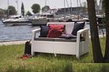 Набір садових меблів Corfu Love Seat White ( білий ) з штучного ротанга ( Allibert by Keter ), фото 10