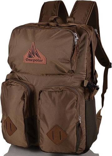 """Удобный рюкзак с отделением для ноутбука 17"""", 35 л. ONEPOLAR (ВАНПОЛАР) W1973-khaki"""