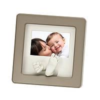 Рамка для слепков ручек и ножек Baby art Photo Sculpture  Frame  taupe