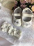 Очень красивый набор для крещения (платье, накидка, пинетки и повязка на голову) hand made, фото 2
