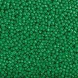 Посыпка шарики зеленые перламутровые 2 мм,  50 грамм