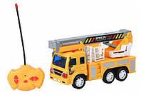 Детский игрушечный автокран с корзиной, на радиоуправлении, Same Toy CITY F1605Ut