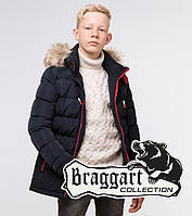 Детская зимняя куртка  темно-синяя  Braggart Kids, фото 1