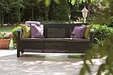 Набір садових меблів Corfu Love Seat Max з штучного ротанга ( Allibert by Keter ), фото 2