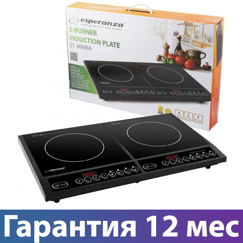 Электроплита индукционная Esperanza EKH008, настольная кухонная плита электрическая, електроплита