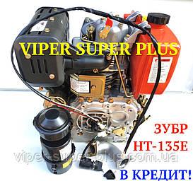Дизельний Двигун ЗУБР 186F-Е 9 л/з, запуск електро+ручний, повітряне охолодження, виробник ZUBR