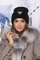 Модная шапка-колпак Даймонд черная