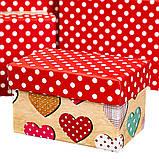 """Набор коробок """"Горошки"""" (10шт) (8020-010), фото 2"""