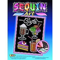 Картина из блесток Набор для творчества Кафе Sequin Art SA1424