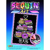 Набор для творчества картина из блесток Пирожные Sequin Art SA1423
