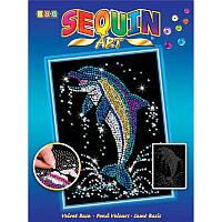 Мозаика блестки Набор для творчества Дельфин Sequin Art SA1516