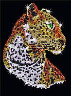 Аппликация из пайеток для детей Набор для творчества Леопард Sequin Art SA1208