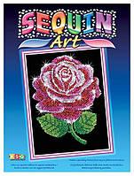 Набор для творчества Блестящая мозаика Красная роза Sequin Art SA1001