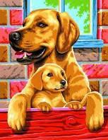 Набор раскрасок по номерам Собаки Sequin Art SA0214