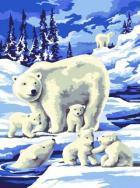Набор для творчества Раскраска по номерам цифрам Зимняя дикая природа Sequin Art  SA0817