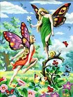 Картина раскраска по цифрам Феи Sequin Art SA0126