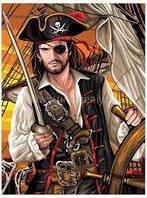 Раскраска для мальчика по номерам Пират Sequin Art SA1108