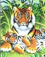 Детские картины по номерам Набор для творчества Тигры Sequin Art SA0029