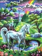 Картины по номерам для детей Набор для творчества Единорог Sequin Art SA0124