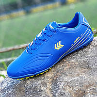 Футзалки, бампы, сороконожки кроссовки мужские для футбола синие ( код 9102 )
