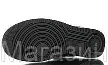 Женские кроссовки Off-White x Nike Air Force 1 '07 Virgil x MoMA Black Найк Аир Форс ОФФ Вайт кожаные черные, фото 2