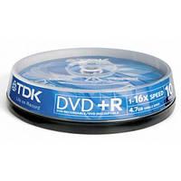 Диск TDK DVD+R 4,7Gb 16x Cake 10 pcs