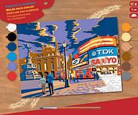 Набор для творчества картина красками по номерам Лондон Piccadilly Sequin Art SA1519