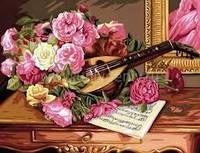 Раскраска по цифрам Романтический букет Sequin Art SA1037