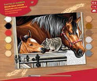 Раскраска по номерам Трио в загоне Sequin Art SA1523