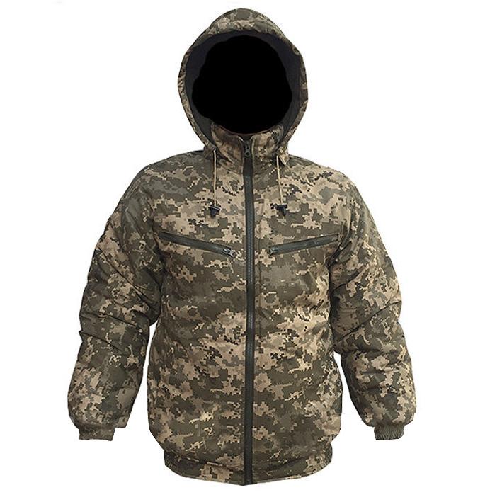 Куртка зимняя под резинку «Пиксель»