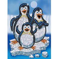 Набор для творчества картина с блестками Пингвины Sequin Art SA1503