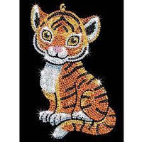 Набор для творчества мозаика пайетками Тигренок Sequin Art SA1413