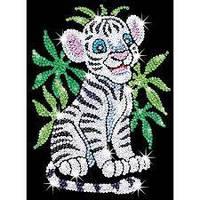 Набор для творчества мозаика блестки Белый тигр Sequin Art SA0906