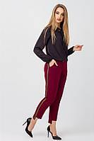 Женские стильные брюки Шарлотта, BS2366 бордовый