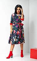 Яркое платье с красивыми цветами