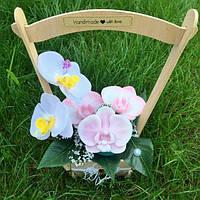 Мыльный букет, мыльная корзинка, мыльные цветы, мильний букет