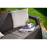 Набор садовой мебели Corfu Love Seat Max Brown ( коричневый ) из искусственного ротанга ( Allibert by Keter ), фото 3