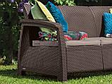 Набор садовой мебели Corfu Love Seat Max Brown ( коричневый ) из искусственного ротанга ( Allibert by Keter ), фото 5