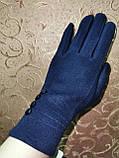 Перчатки льпака фланелев с сенсором для работы на телефоне плоншете/Сенсорны женские перчатки оптом, фото 3